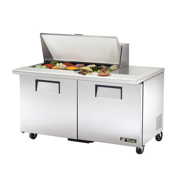 "True TSSU-60-18M-B-HC 60"" 18 Pan Mega Top Salad/Sandwich Prep Table"