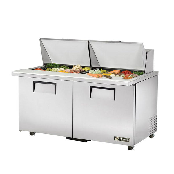 "True TSSU-60-24M-B-ST-ADA-HC 60"" ADA Compliant Mega-Top Solid Door Sandwich/Salad Refrigerated Prep Table"
