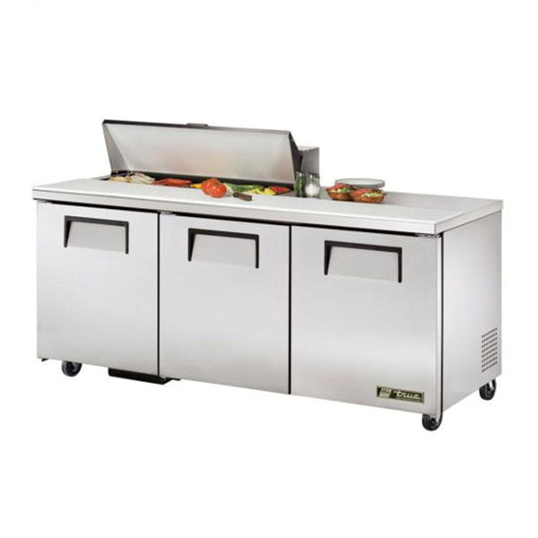 "True TSSU-72-10-ADA-HC 72"" ADA Compliant Solid Door Sandwich/Salad Refrigerated Prep Table"