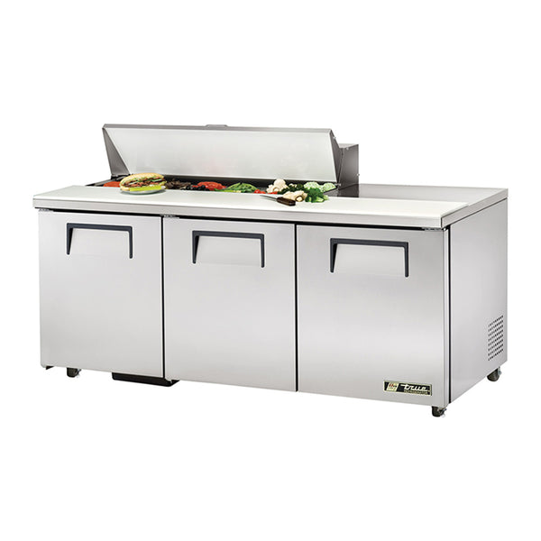"True TSSU-72-12-ADA-HC 72"" Solid Door Sandwich/Salad Refrigerated Prep Table"