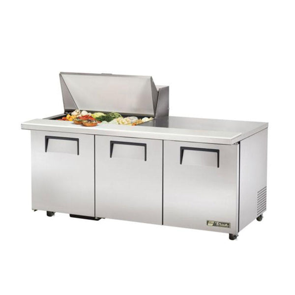 "True TSSU-72-15M-B-ADA-HC 72"" 15-Pan ADA Compliant Mega-Top Solid Door Sandwich/Salad Refrigerated Prep Table"