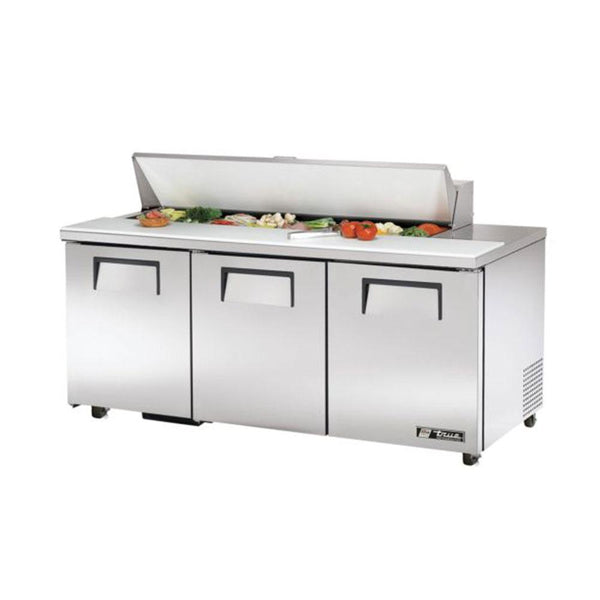 "True TSSU-72-16-HC 72"" Solid Door Sandwich/Salad Refrigerated Prep Table"