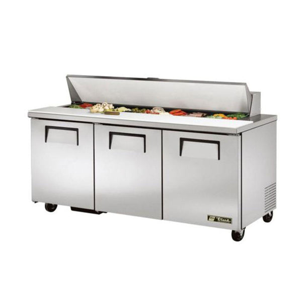 "True TSSU-72-18-HC 72"" 18 Pan Salad/Sandwich Prep Table"