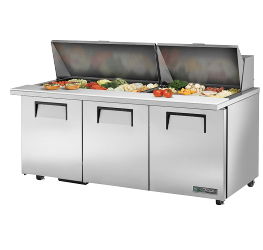 "True TSSU-72-30M-B-ST-ADA-HC 72"" ADA Compliant Mega-Top Solid Door Sandwich/Salad Prep Table"