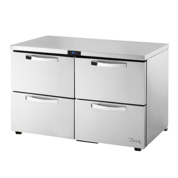 TRUE TUC-48D-4-LP-HC~SPEC3 12-cu ft Undercounter Refrigerator w/ (2) Sections & (4) Drawers