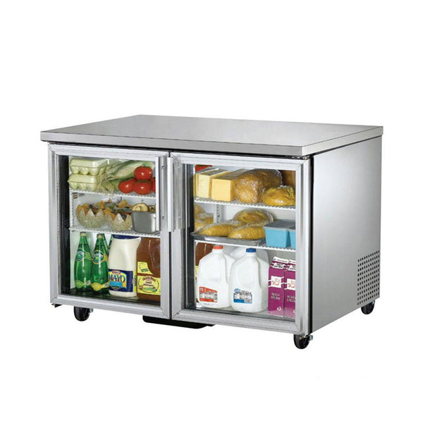 "True TUC-48G-HC~FGD01 48"" Glass Door Undercounter Refrigerator"