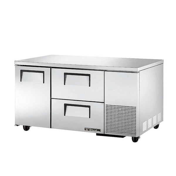 "True TUC-60-32D-2-HC 60"" Undercounter Refrigerator With 1-Door And 2-Drawers"