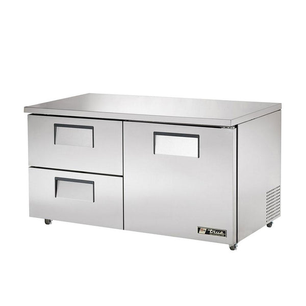 "True TUC-60D-2-ADA-HC 60"" ADA Compliant Undercounter Refrigerator With 1-Door And 2-Drawer"