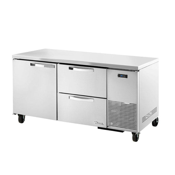 TRUE TUC-67D-2-HC~SPEC3 20.6-cu ft Undercounter Refrigerator w/ (2) Sections, (1) Door & (2) Drawers
