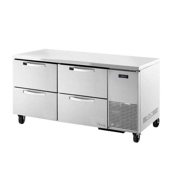 TRUE TUC-67D-4-HC~SPEC3 20.6-cu ft Undercounter Refrigerator w/ (2) Sections & (4) Drawers