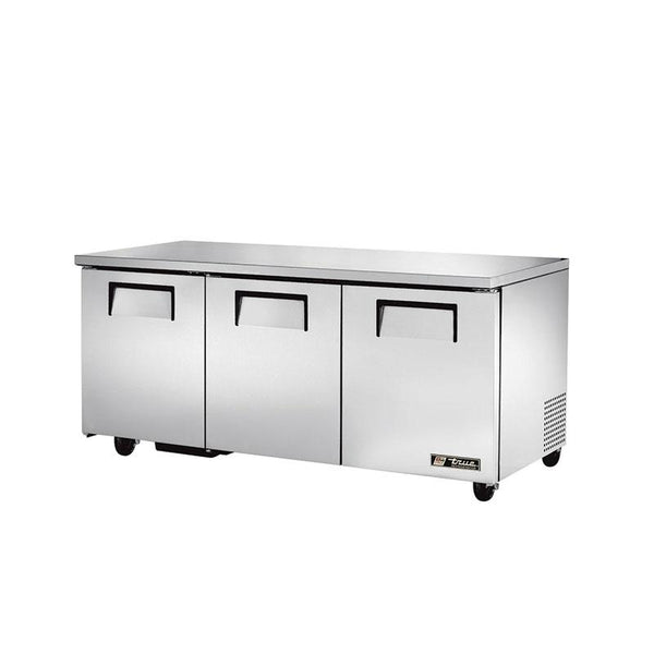 "True TUC-72 72"" 3 Solid Door Undercounter Refrigerator"