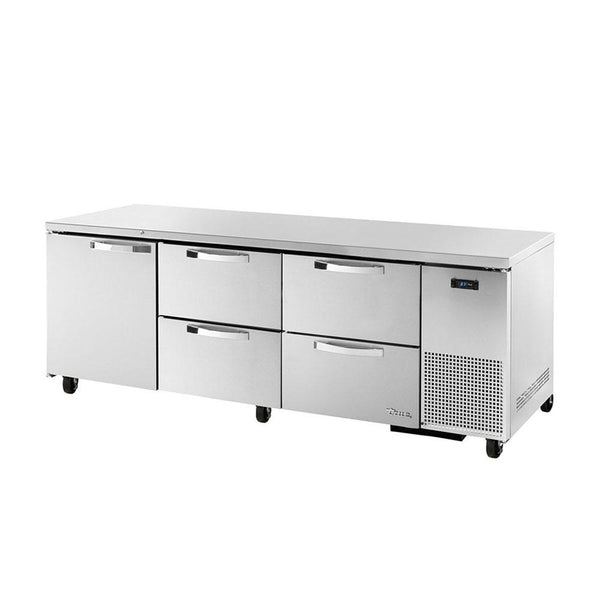 TRUE TUC-93D-4-HC~SPEC3 30.9-cu ft Undercounter Refrigerator w/ (3) Sections, (1) Door & (4) Drawers