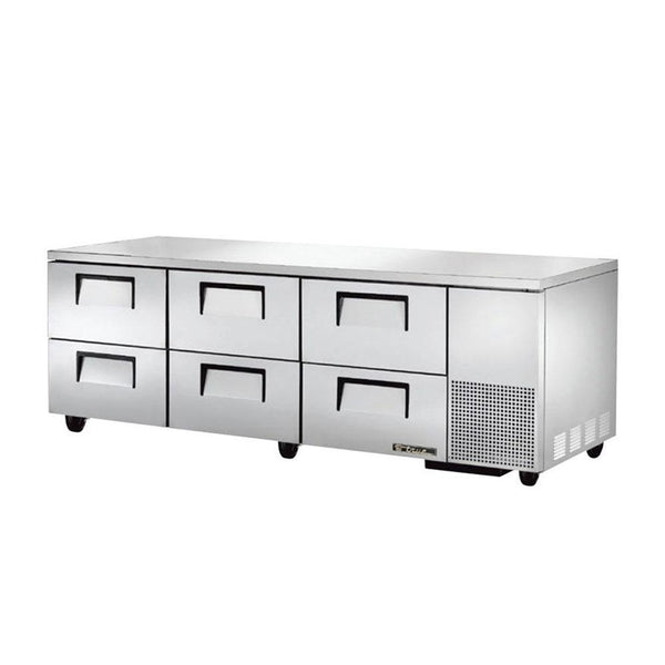"True TUC-93D-6-HC 93"" 6-Drawer Undercounter Refrigerator"