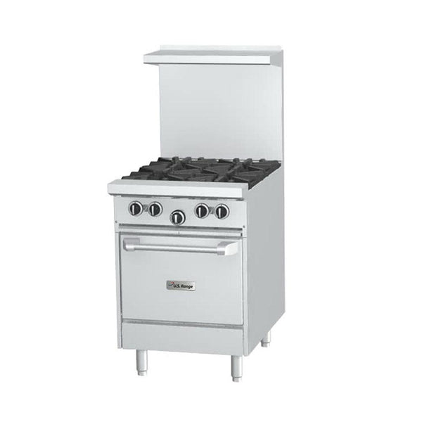 "U.S. Range U24-4L Natural Gas 4 Burner 24"" Range with Space Saver Oven"