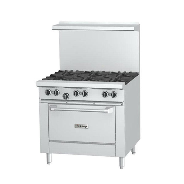 "U.S. Range U36-6R Natural Gas 6 Burner 36"" Range with Standard Oven"