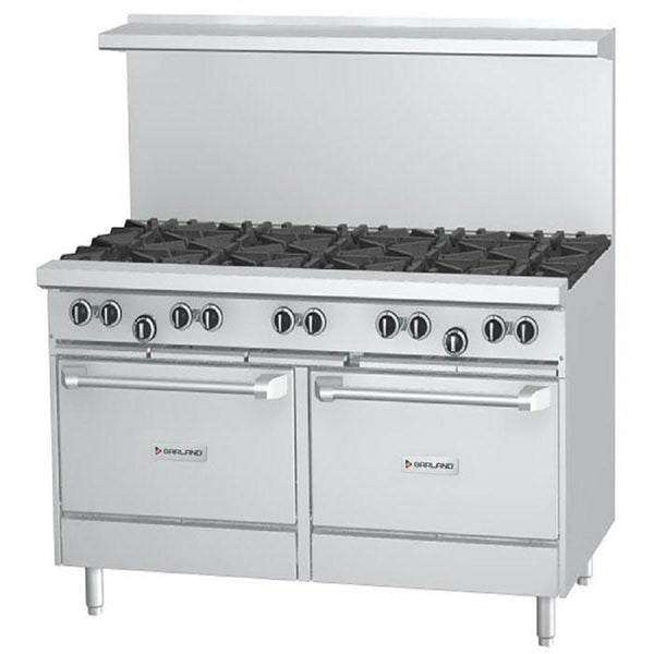 "US Range U60-8G12RR NG 8-Burner 60"" Gas Range With Right Hand 12"" Griddle and w/2 Standard Ovens - 350,000 Btu"