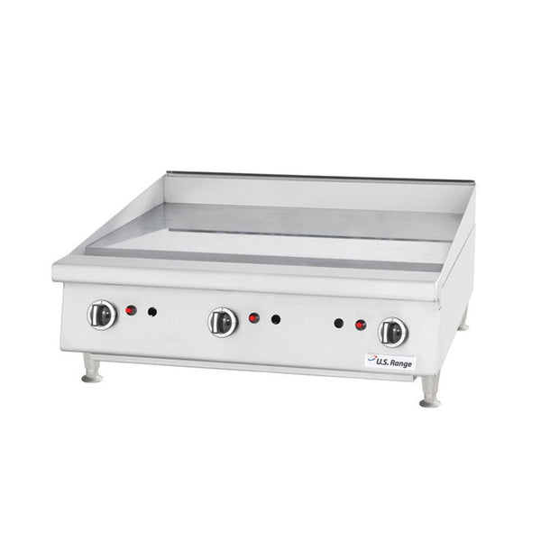 "U.S. Range UTGG24-G24M Natural Gas / Liquid Propane 24"" Heavy-Duty Countertop Griddle with Manual Controls"