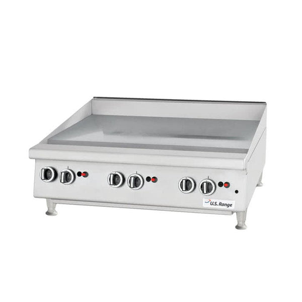 "U.S. Range UTGG24-GT24M Natural Gas / Liquid Propane 24"" Heavy-Duty Countertop Griddle with Thermostatic Controls"