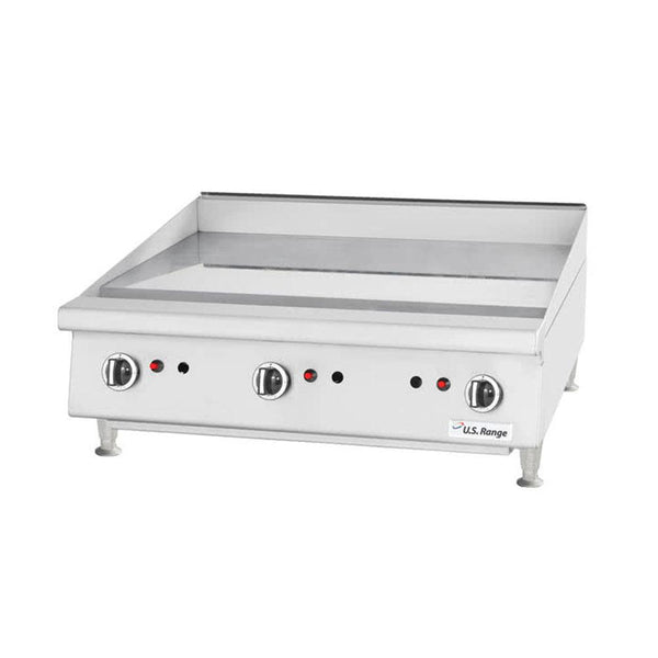 "U.S. Range UTGG60-G60M Natural Gas / Liquid Propane 60"" Heavy-Duty Countertop Griddle with Manual Controls"