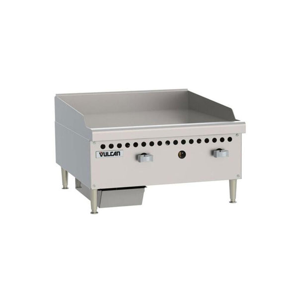 "Vulcan VCRG24-M Gas 24"" Countertop Griddle with Manual Controls - 50,000 BTU"