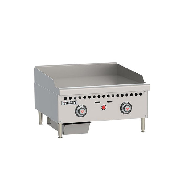 "Vulcan VCRG24-T Gas 24"" Countertop Griddle with Snap-Action Thermostatic Controls - 50,000 BTU"