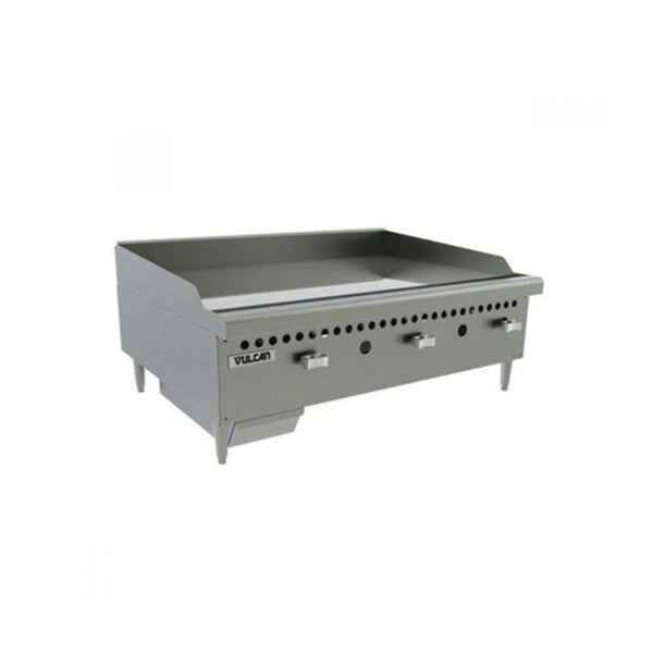 "Vulcan VCRG36-M Gas 36"" Countertop Griddle with Manual Controls - 75,000 BTU"