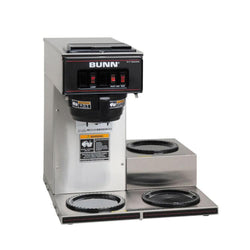 Bunn VP17-3 Low Profile Pourover Coffee Brewer with 3 Warmers