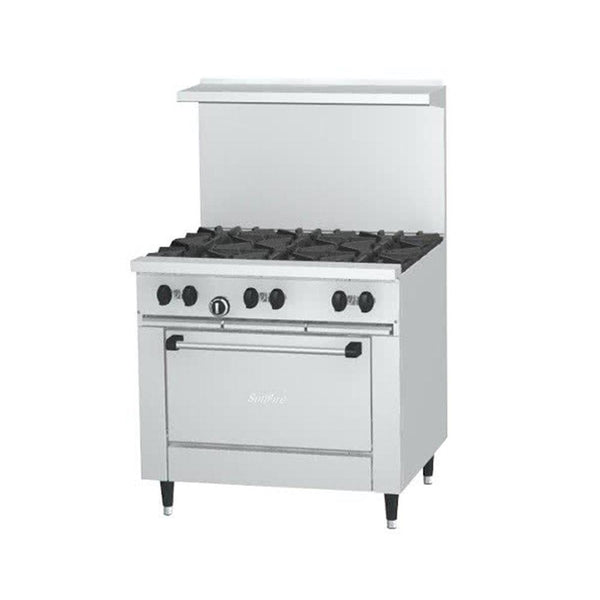 "SunFire Series X36-6R Natural Gas 6 Burner 36"" Gas Range with Standard Oven"