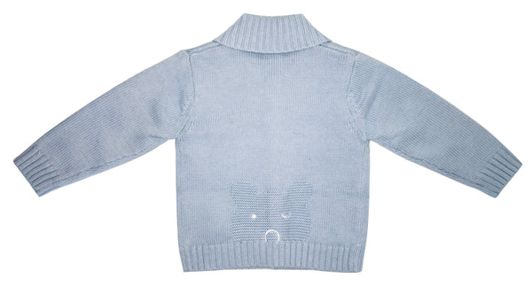 Absorba Baby Boys Light Blue Cardigan With Teddy on Back