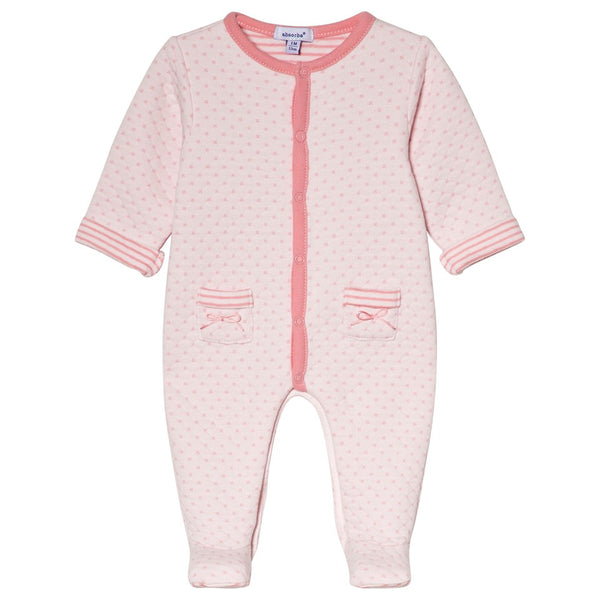 Absorba Baby Girls Pink Quilted Babygrow With Pockets