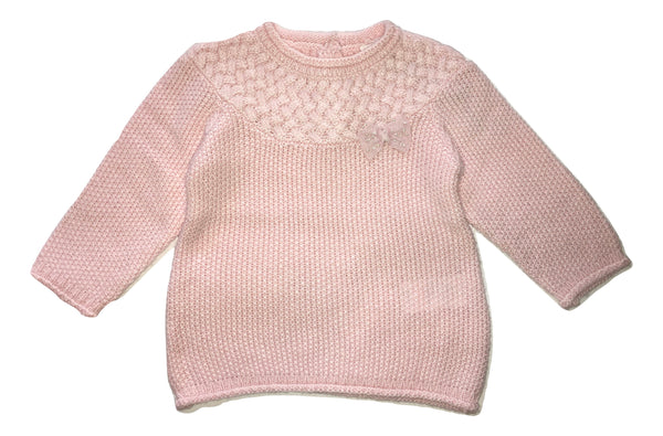 Absorba Baby Girls Pink Sweater With Front Bow
