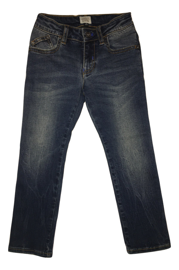 Armani Boys Blue Jeans With Logo