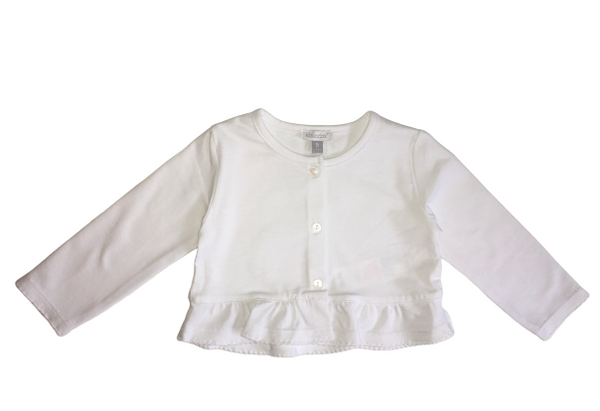 Absorba Baby Girl White Top Cardigan With Logo