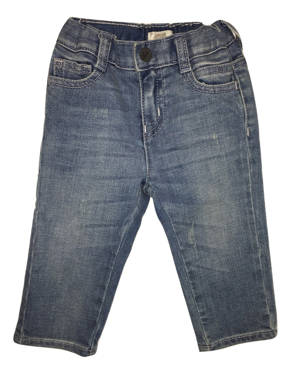Amani Boys Light Blue Jeans With Logo