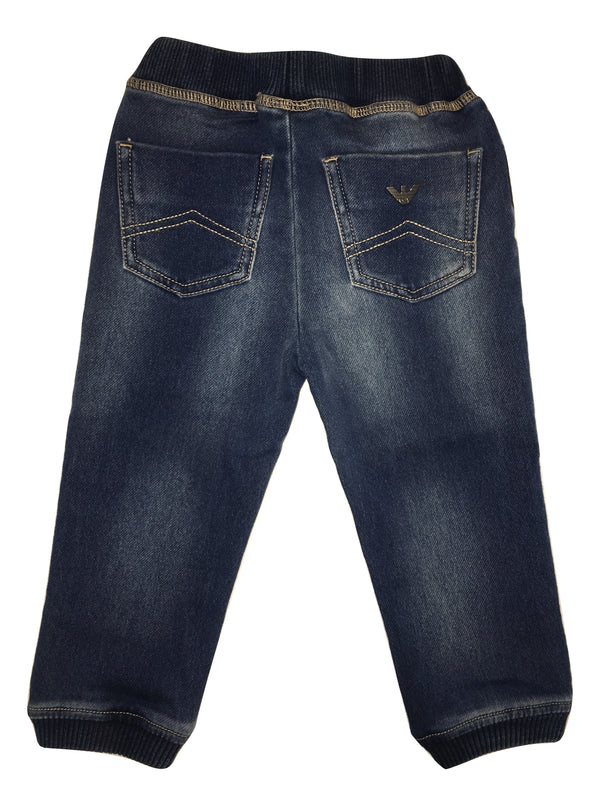 Amani Baby Boys Blue Jeans With Logo