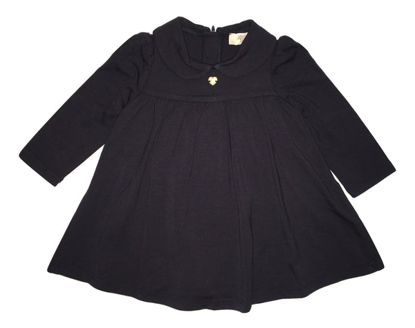 Armani Baby Girls Navy Blue Dress With Logo