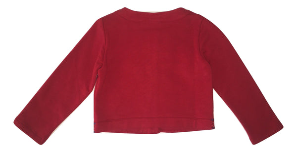 Blumarine Girls Red Cardigan With Sparkle
