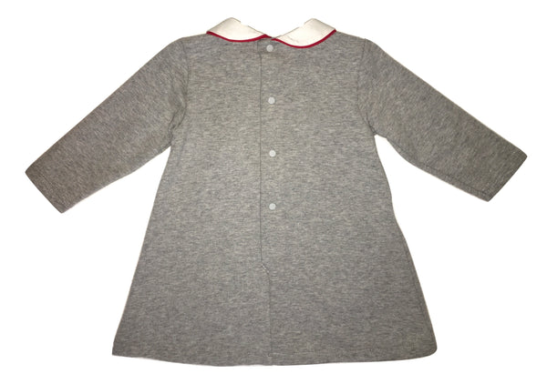 Byblos Baby Girls Grey Dress With Collar And Logo