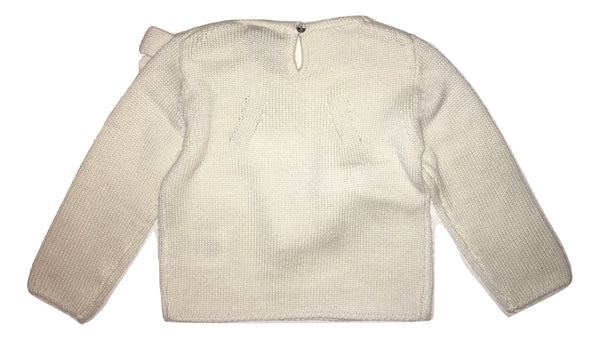 Byblos Baby Girls White Jumper With Two Front Bows