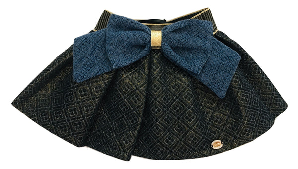 Byblos Baby Girls Blue And Gold Skirt With Bow