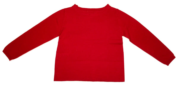 Byblos Baby Girls Red Cotton Blouse With Logo