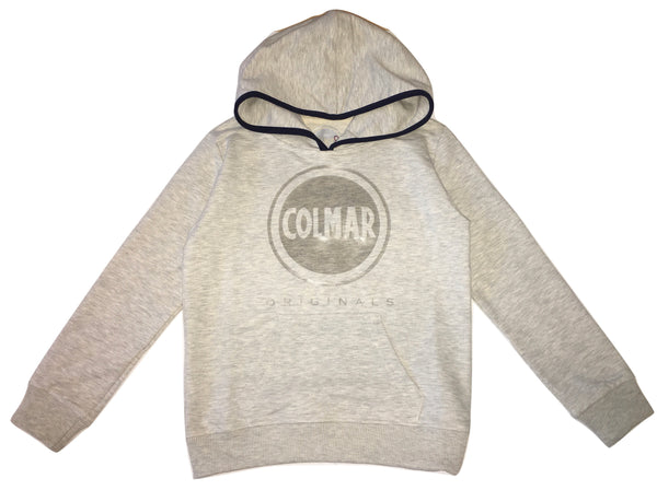 Colmar Boys Grey Hoodie With Front Logo