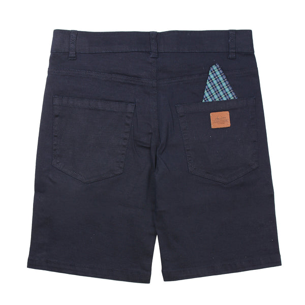 Daniele Alessandrini Boys Navy Blue Shorts With Logo