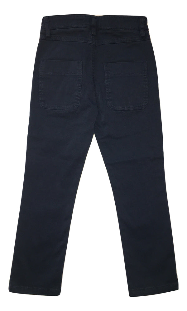Daniele Alessandrini Boys Blue Chino Trousers With Logo