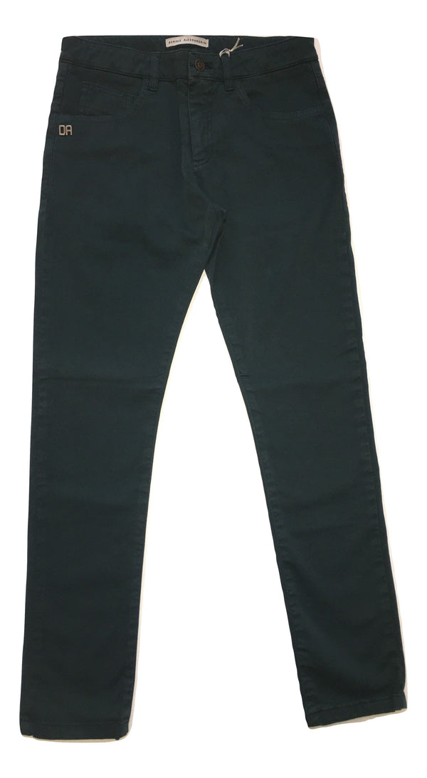 Daniele Alessandrini Boys Darker Green Trousers With Logo