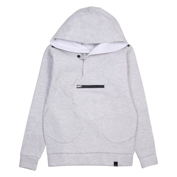 Daniele Alessandrini Boys Grey Hoodie With Front Pockets