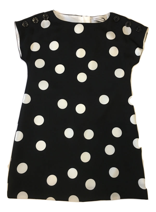 Dolce & Gabbana Girls Black and White Silk Dress