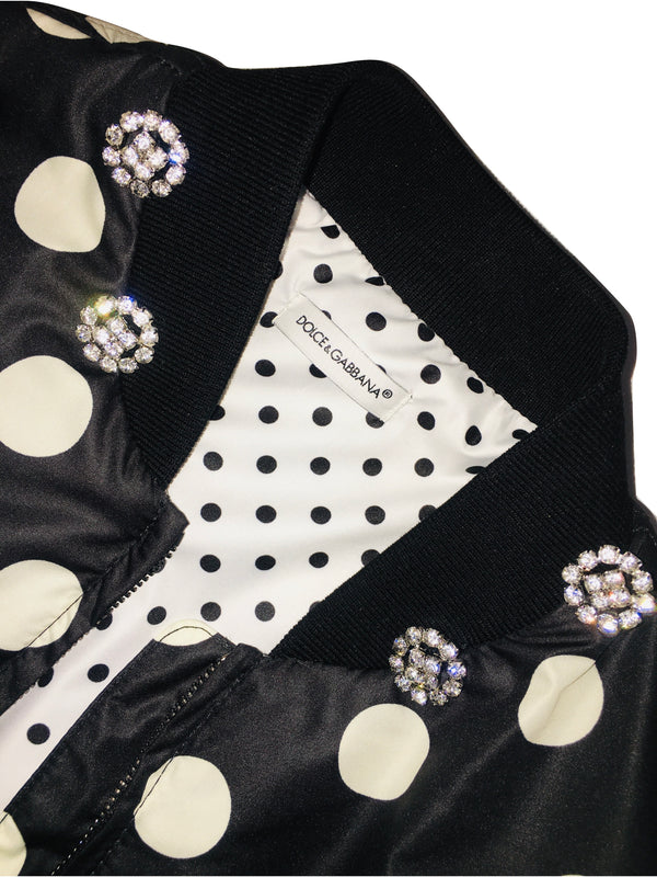 Dolce & Gabbana Girls Black And White Jacket With Logo