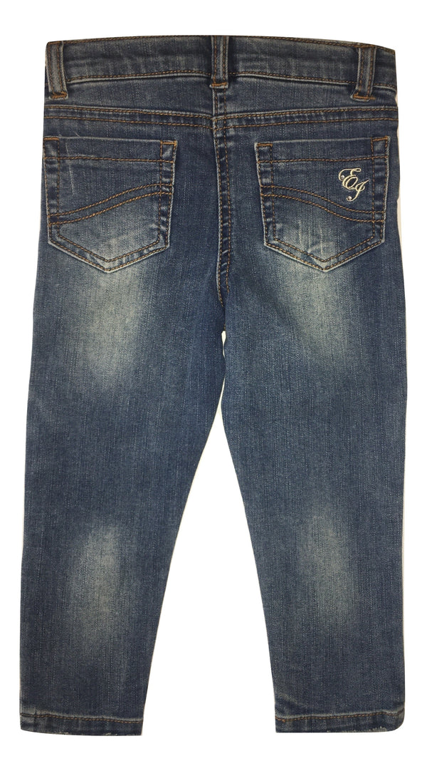 Elsy Baby Girls Skinny Blue Jeans With Sparkle