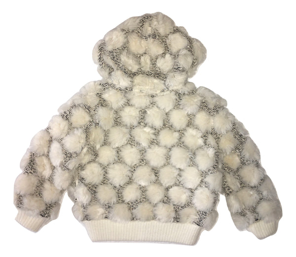 Elsy Baby Girls Cream Cardigan With Hoodie